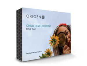 Child development front of box