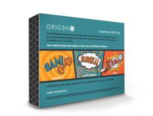 Superhero DNA test back of box